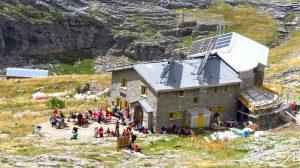 Pireneje, Ordesa. Refugio Goriz (2200 m n.p.m.)