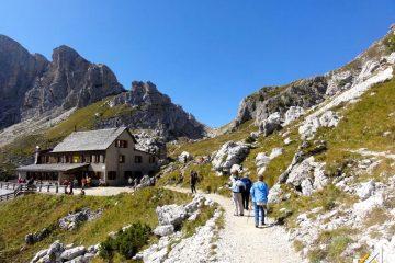 Trekking w Dolomitach. Rifudio Coldai,Civetta