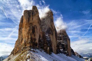 Trekking w Dolomitach. Tre Cime di Lavaredo.