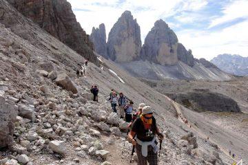 Trekking w Dolomitach. Trewers Monte Paterno