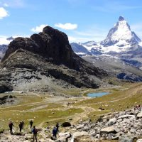 Matterhorn (4478 m n.p.m.). Widok z Gornergrat (3000 m n.p.m.)