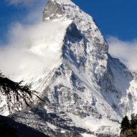 Matterhorn (4478 m n.p.m.). Widok z okolic Zermatt